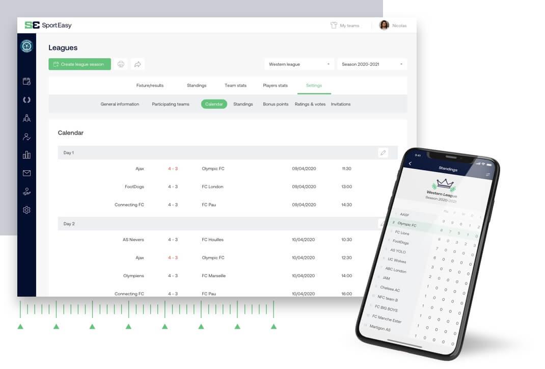 Software que permite la gestión completa del campeonato a cualquier nivel