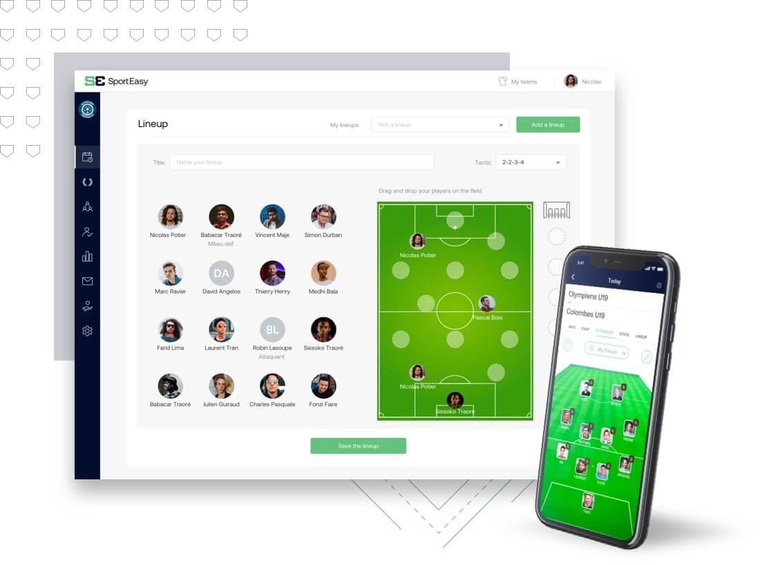 Crea la alineación de tu equipo desde el sitio web o la aplicación móvil