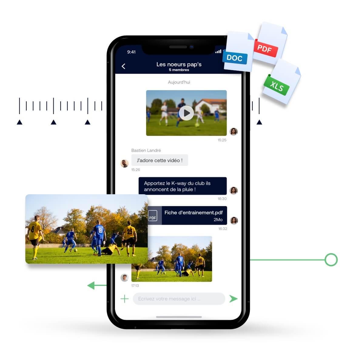 Communication avec les joueurs de votre équipe (SMS, email, notification mobile)