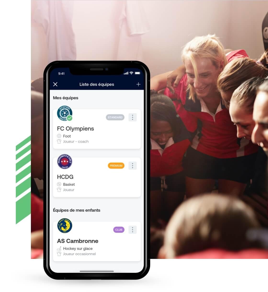 Grâce au site web et aux applications iOS et Android SportEasy, gardez le lien avec votre équipe, où que vous soyez.