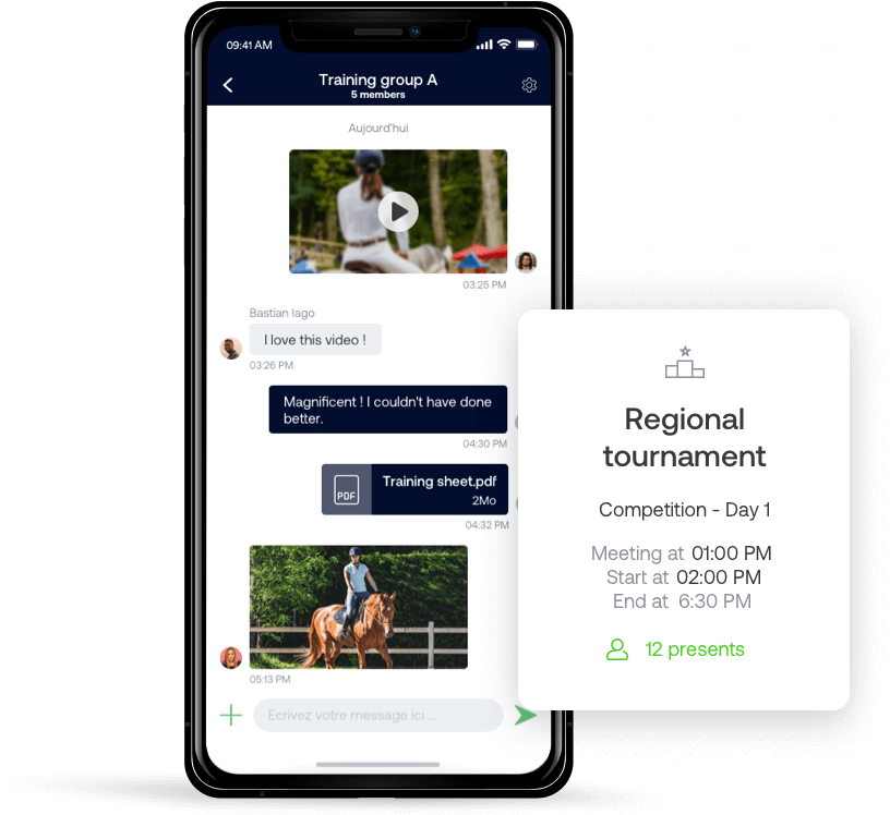 The horseback riding SportEasy app
