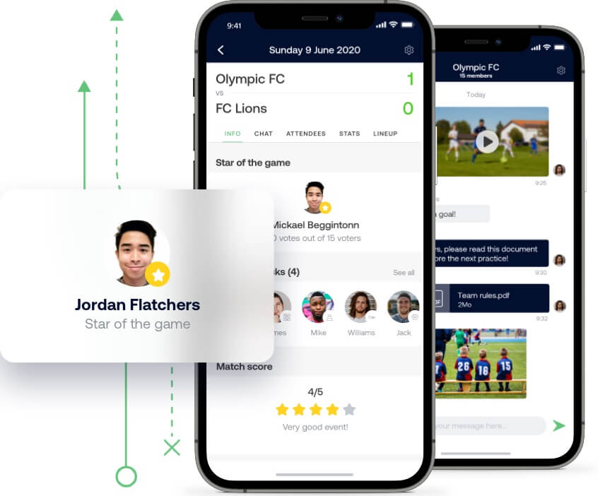 Organize games and practices for your handball team