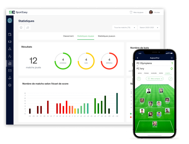 L'app SportEasy de football