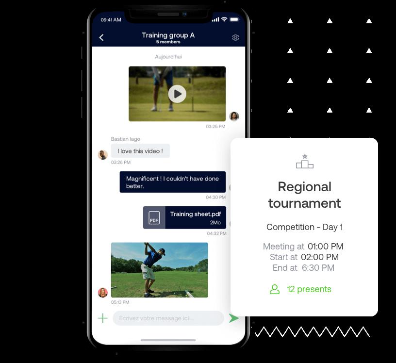 La aplicación SportEasy de golf