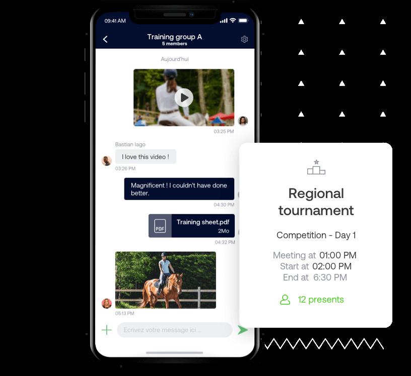 La aplicación SportEasy de equitación