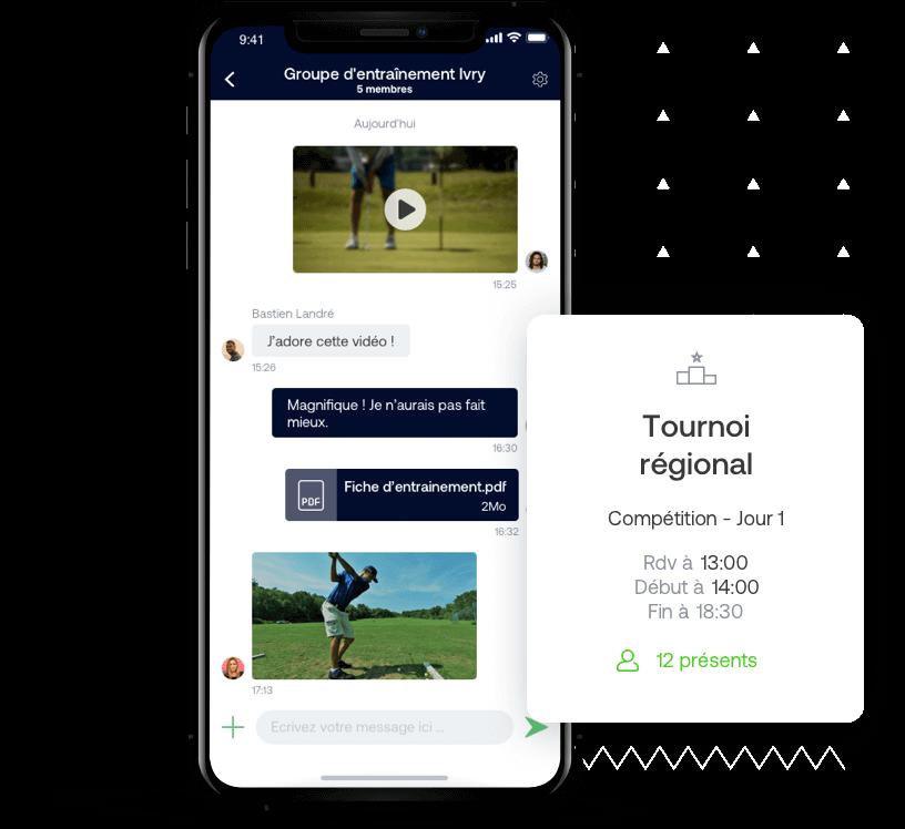 App web et mobile pour équipe de golf