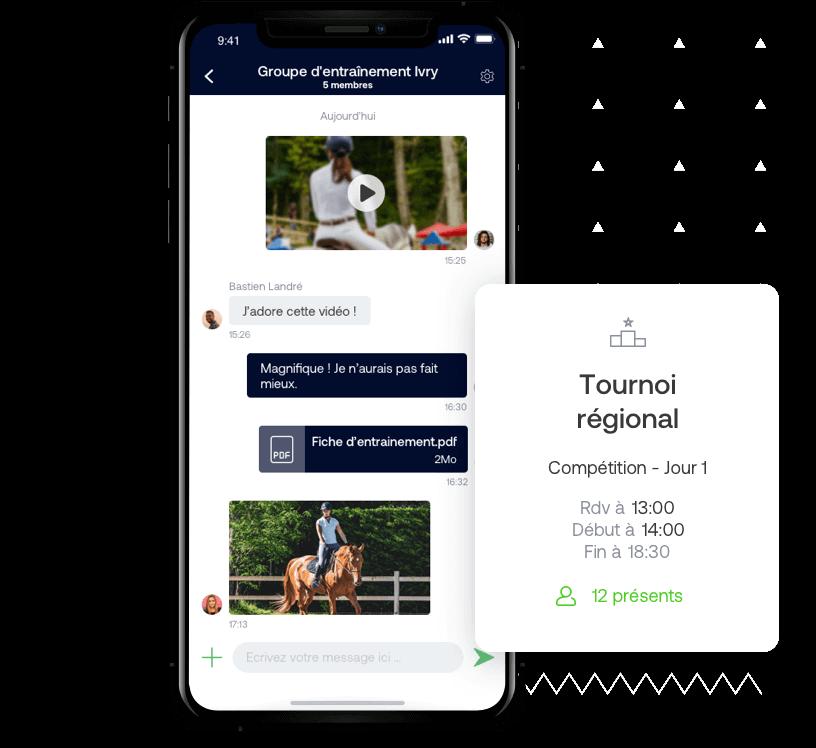 App web et mobile pour équipe d'équitation