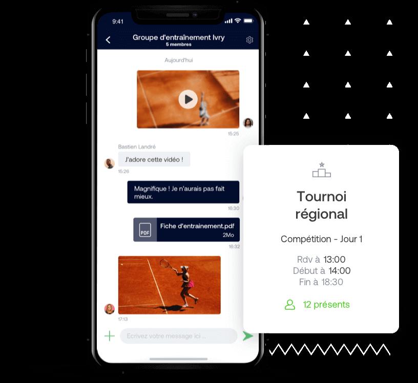 App web et mobile pour équipe de tennis