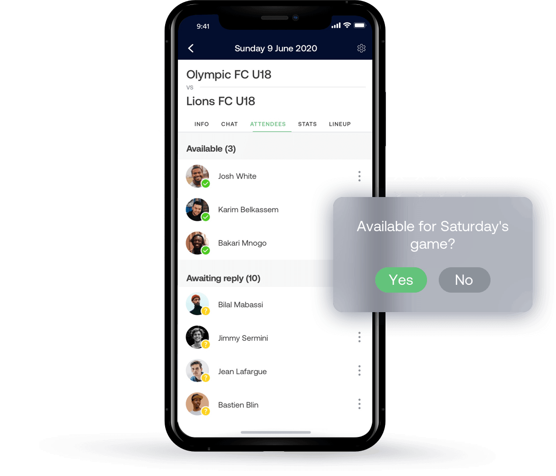 Seamlessly manage your amateur sports team with SportEasy.
